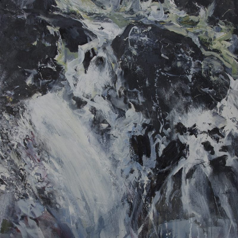 005 'Cataract Of Lodore' Oil On Canvas  Alison Critchlow 90 X100 X 2.5 Cm 2019