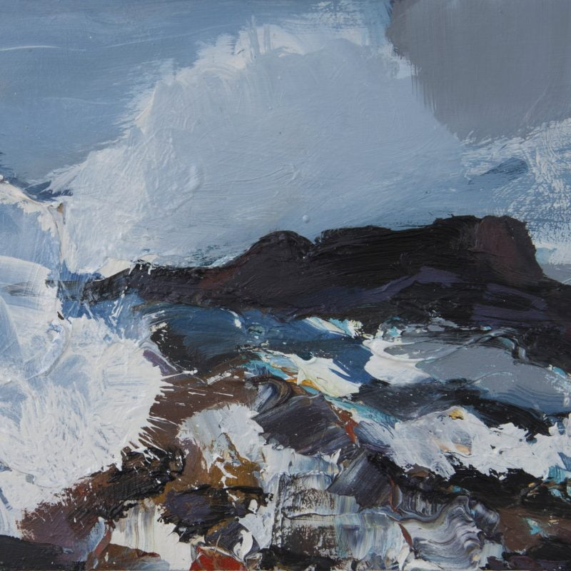 006 'Crashing Waves, Outer Hebrides' Oil On Board 2020 Alison Critchlow