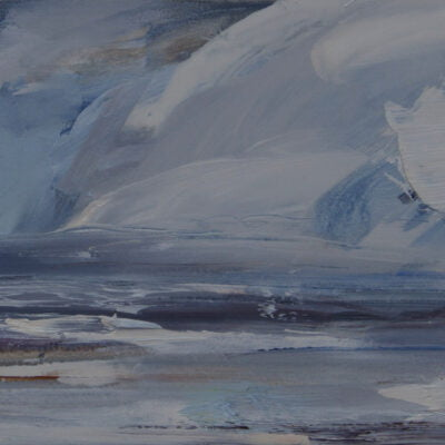 007'Shifting Clouds, Solway Firth' Oil On Gesso Panel Alison Critchlow