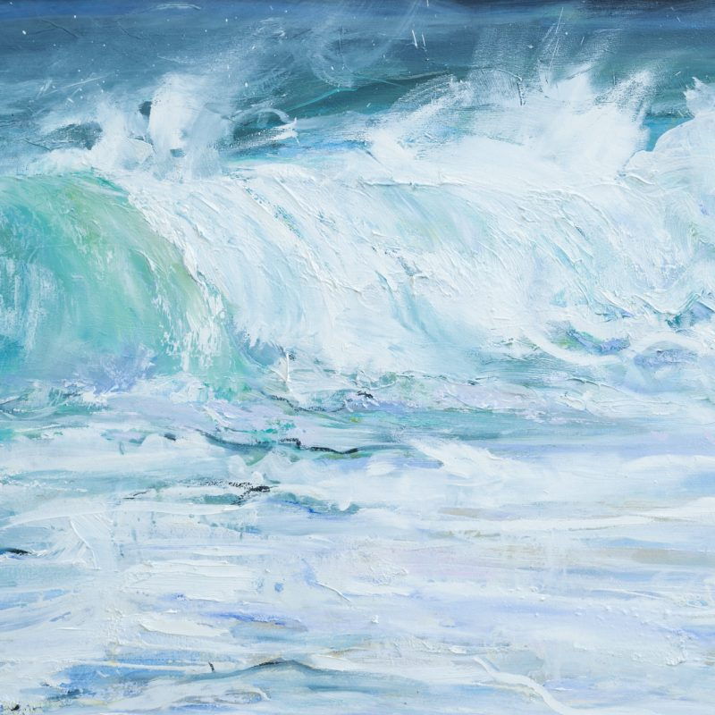 009 A Critchlow 'Breaking Wave' Oil On Canvas 90 X 75 Cm 2020 Copy