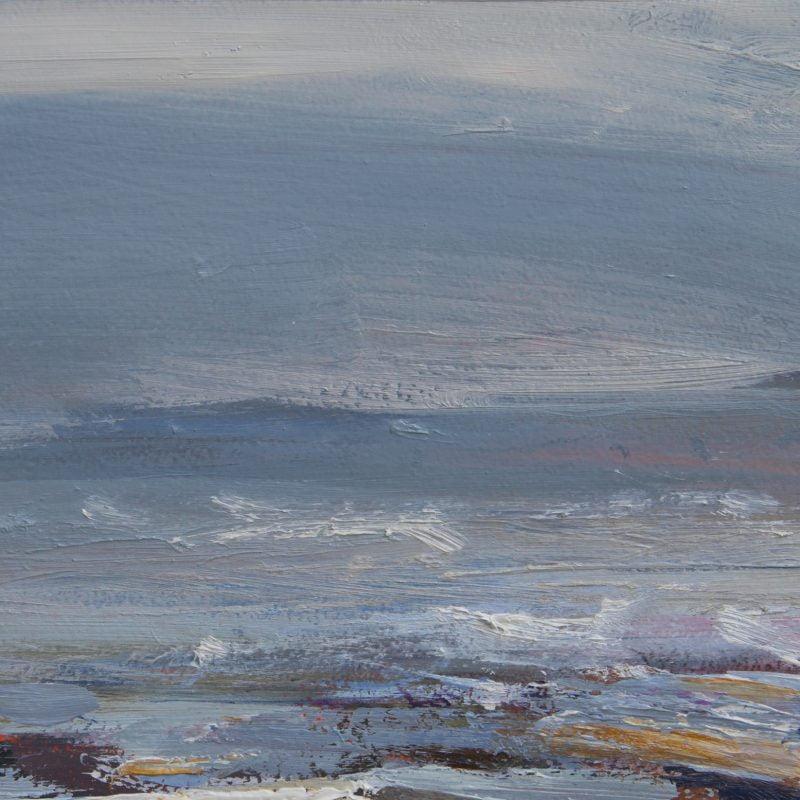 011  'Estuary' 30x16 X2 Cm Oil On Gesso Panel Alison Critchlow 2020