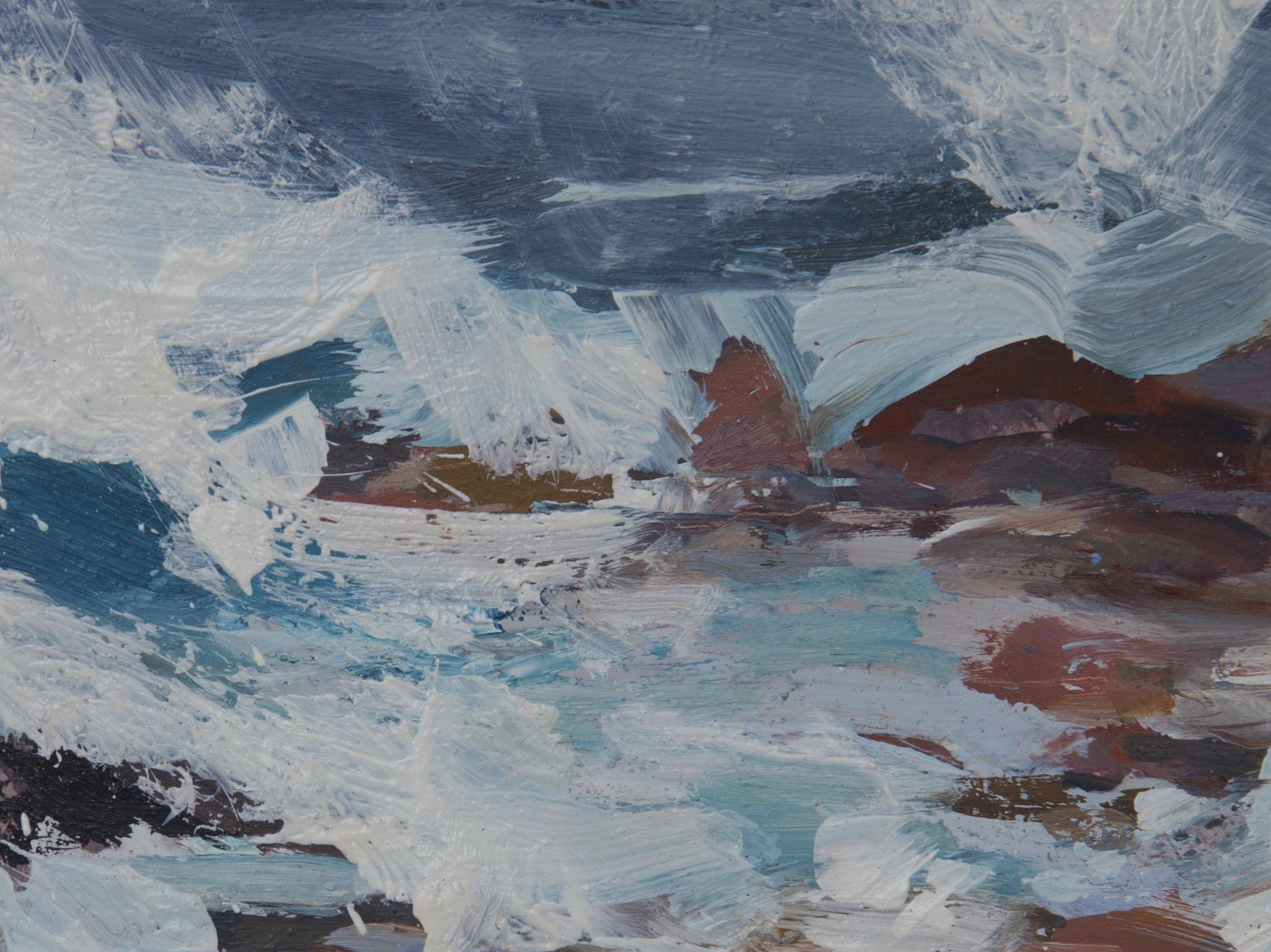 Iona, Rocks Oil On Board Alison Critchlow