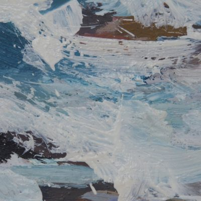 Iona, Rocks Detail 1 Oil On Board Alison Critchlow