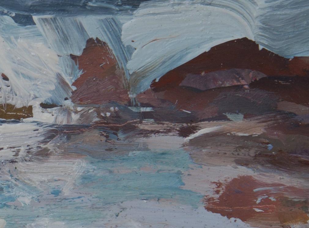 Iona, Rocks Detail 2 Oil On Board Alison Critchlow
