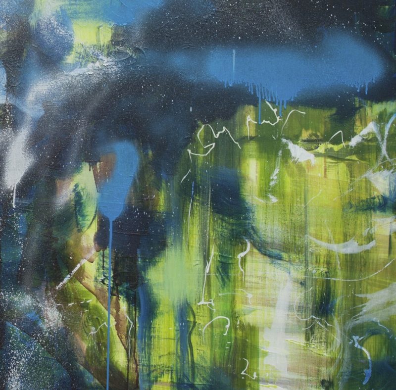 'Passing Through' Oil, Acrylic And Spray Paint On Canvas Crop1A. Critchlow