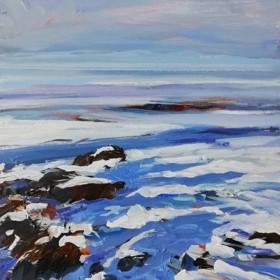 'Snow On The Solway' 33x33cm