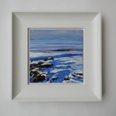 'Snow On The Solway Framed