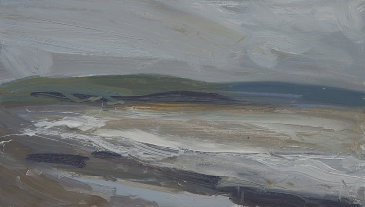 'Summer Rain, Allonby' Oil On Board Alison Critchlow