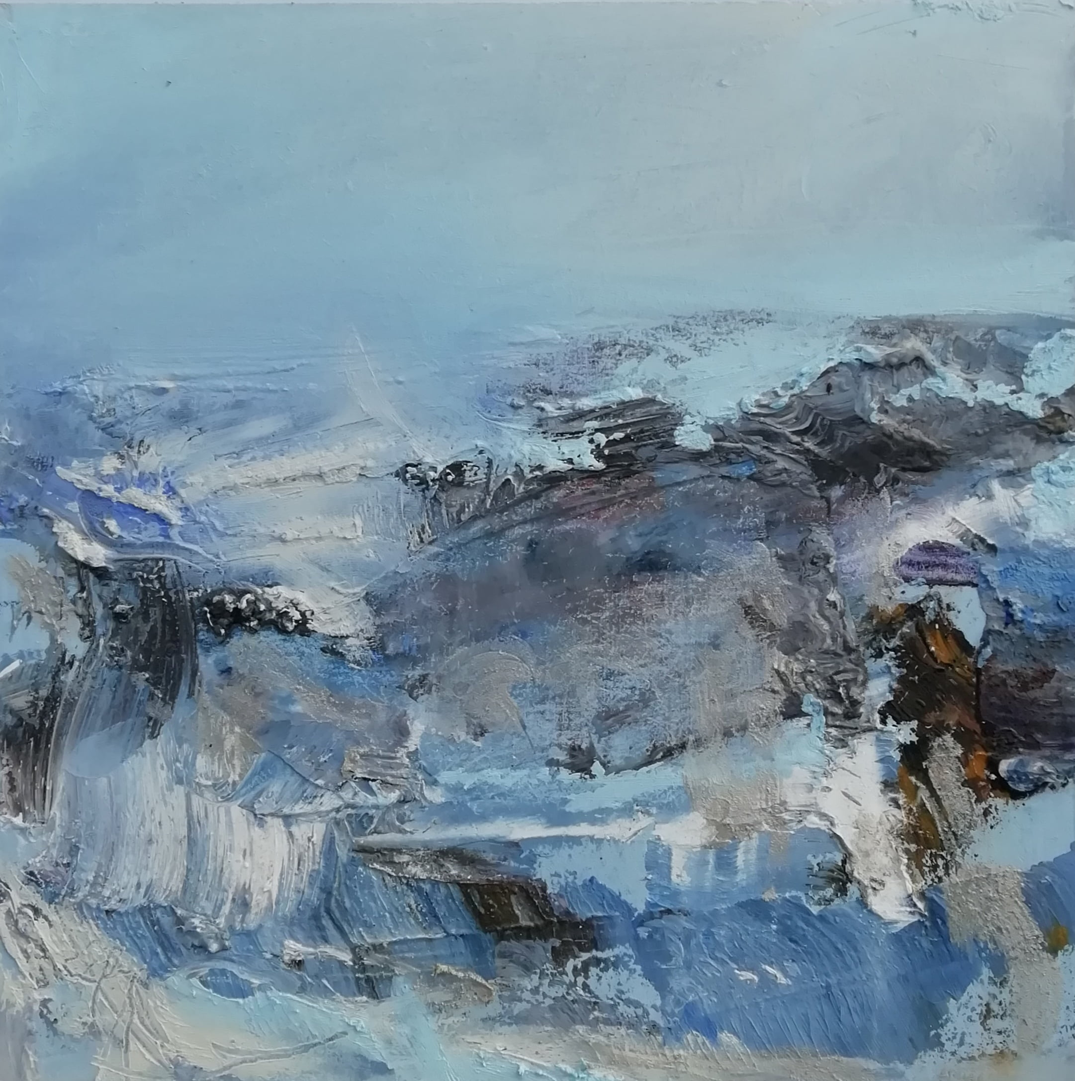 'Winter Tide' Oil On Board 33 X 33 Cm Framed Size