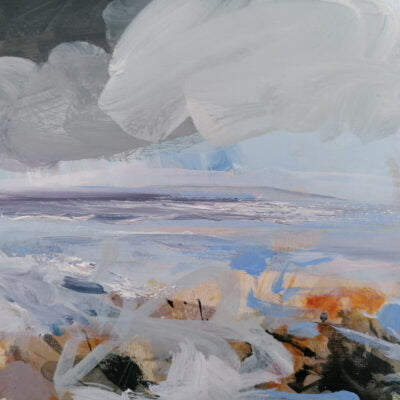 'Spring Snow, Rising Tide' Oil And Acrylic On Board Alison Critchlow